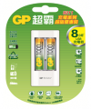USB超值組充電器+1000mAh 4號低自放充電池2入
