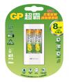 USB超值組充電器+2700mAh 3號低自放充電池2入